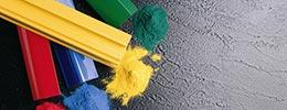 Polymerization - powder paint system
